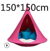 UFO Shape Teepee Tree Hanging Silkworm Cocoon Swing Chair For Kids & Adults Indoor Outdoor Hammock Tent Hamaca Patio Furniture - Avenila - Interior Lighting, Design & More