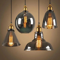"Vintage 5.5"" to 11"" Wide Pendant Glass Retro Lights - Avenila - Interior Lighting, Design & More"