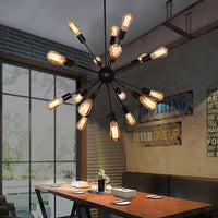 "Vintage Industrial 25 1/2""W Sputnik Pendant 12/16/18/20 Metal Head Light - Avenila - Interior Lighting, Design & More"