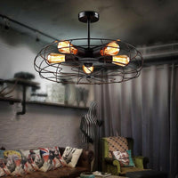 Vintage Industrial Ceiling Light Pendant Lamp Metal Fan Cage Fixture - Avenila - Interior Lighting, Design & More