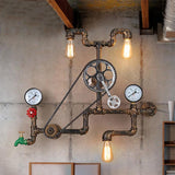 Vintage Steampunk Industrial Fake Water Pipe Wall Light - Avenila - Interior Lighting, Design & More