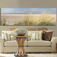 Wall Canvas Art Seascape Beach Landscape Painting Poster HD Print Sky Island Sand Dunes Tail Grass Wall Pictures For Living Room - Avenila - Interior Lighting, Design & More
