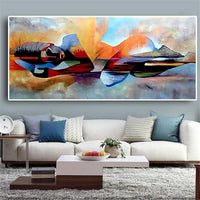 Watercolor Abstract Oil Painting on Canvas Posters and Prints Cuadros Wall Art Pictures For Living Room - Avenila - Interior Lighting, Design & More
