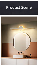 White Gold Bathroom Vanity Mirror Lamp Light - Avenila - Interior Lighting, Design & More