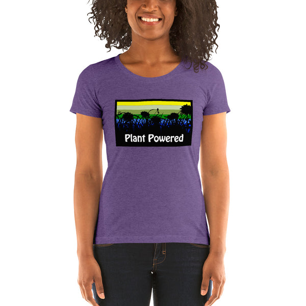 Women's Tri-Blend Plant Powered Flower Tee