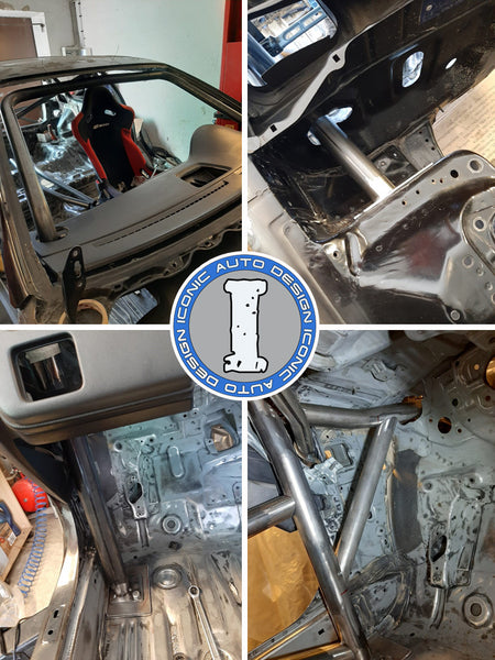 Honda Civic EG Roll bar fabrication