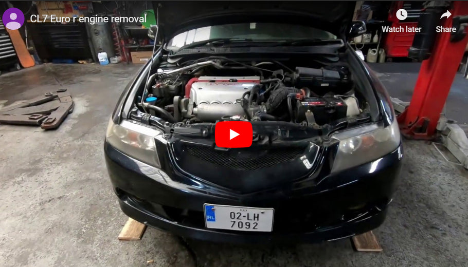 Honda Accord CL7 Euro-R engine removal