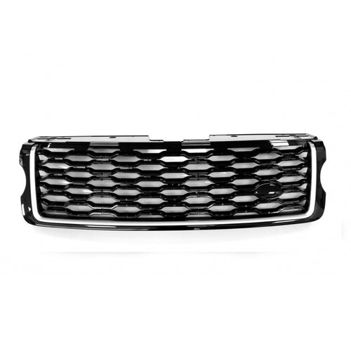 ICONIC AUTO DESIGN GRILLE (2018 STYLE) TO SUIT L405 VOGUE 2013 LOOK BLACK/SILVER