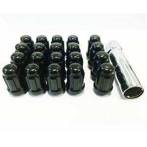 ICONIC AUTO DESIGN 12x1.25 STEEL SLIMLINE WHEEL NUTS 20 PACK  - COLOUR OPTIONS
