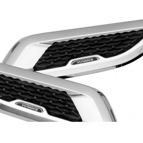 ICONIC AUTO DESIGN BONNET VENTS TO SUIT EVOQUE L538 CHROME/BLACK MESH