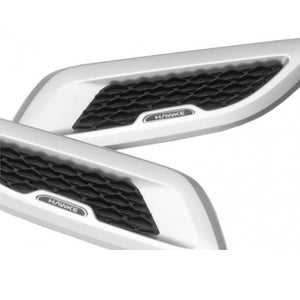 ICONIC AUTO DESIGN BONNET VENTS TO SUIT EVOQUE L538 SILVER/BLACK MESH