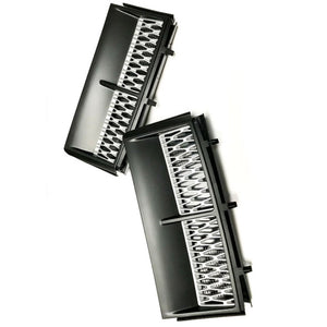 ICONIC AUTO DESIGN SUPERCHARGED STYLE VENTS TO SUIT L322 VOGUE BLACK / SILVER