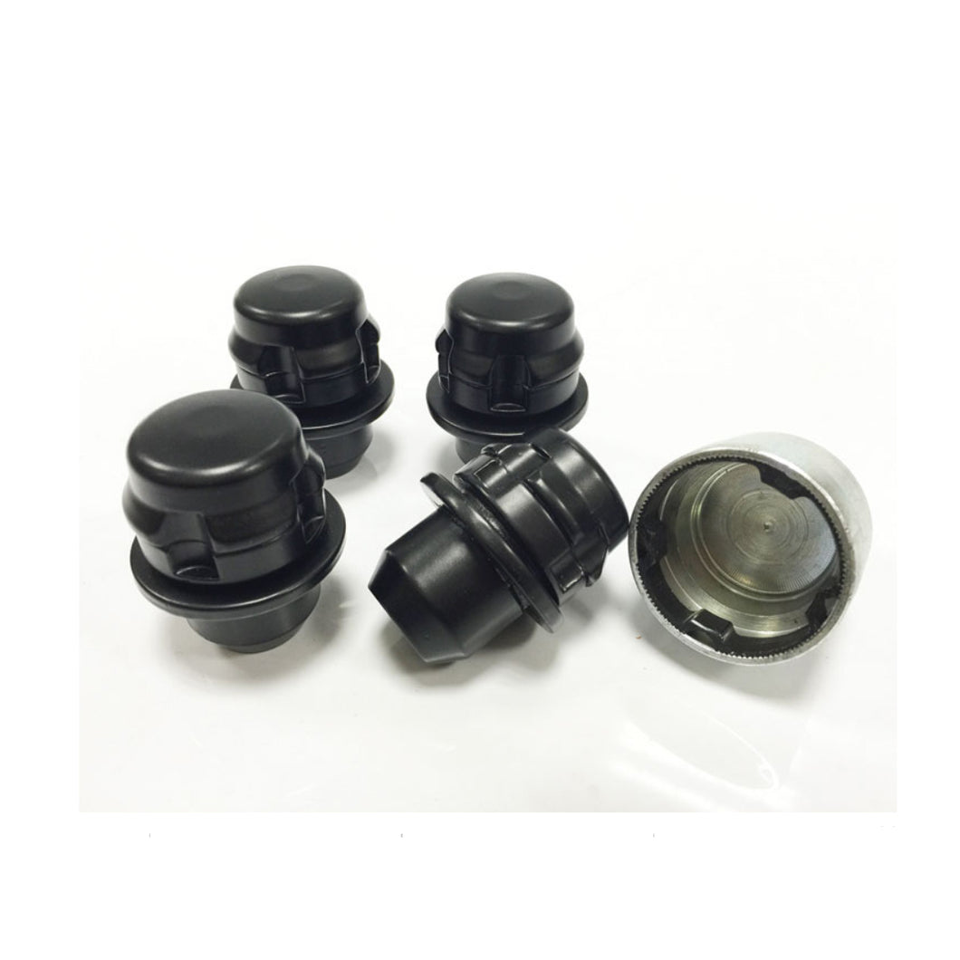ICONIC AUTO DESIGN RANGE ROVER SPORT 2006> OE STYLE LOCKING NUTS BLACK