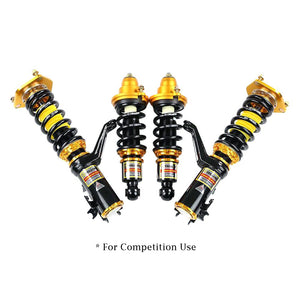 YELLOW SPEED RACING YSR PREMIUM COMPETITION COILOVERS HONDA CIVIC CRX 89-91 FORK TYPE