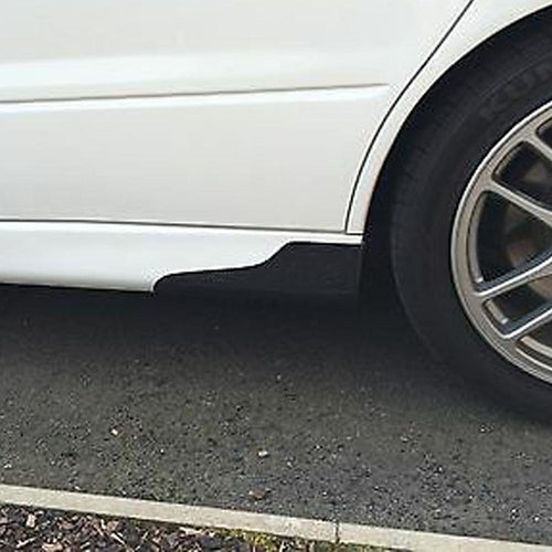 lancer evo side skirt spats carbon