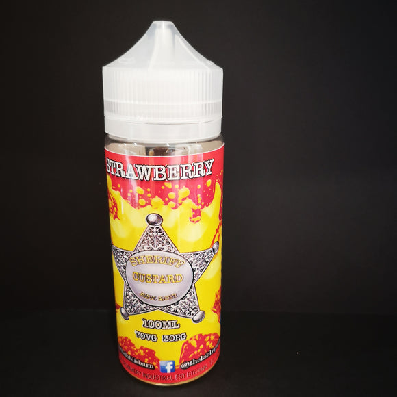 Strawberry Sheriff Custard 120ML Wholesale