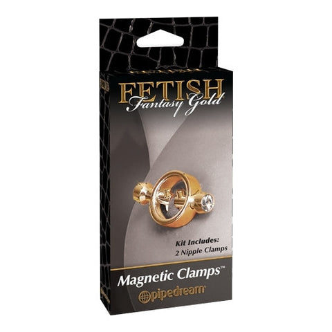 Fetish Fantasy Gold Bondage Magnetic Clamps (Gold) Fetish Gear
