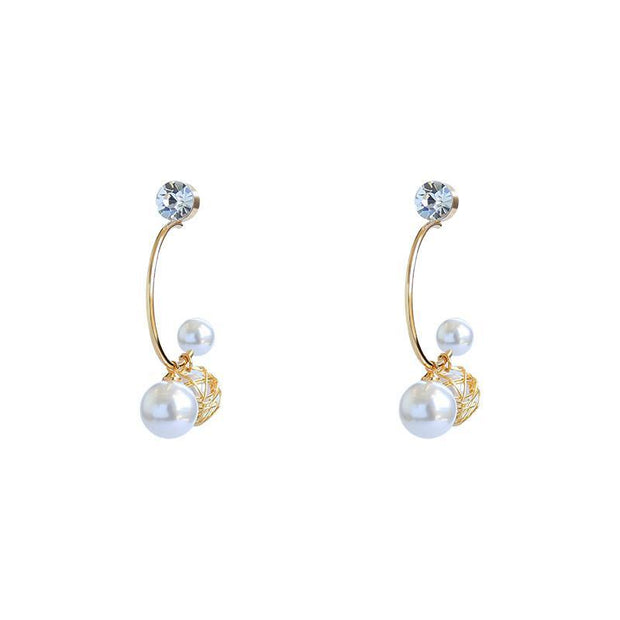Women's Fashion Pearl Niche Earrings