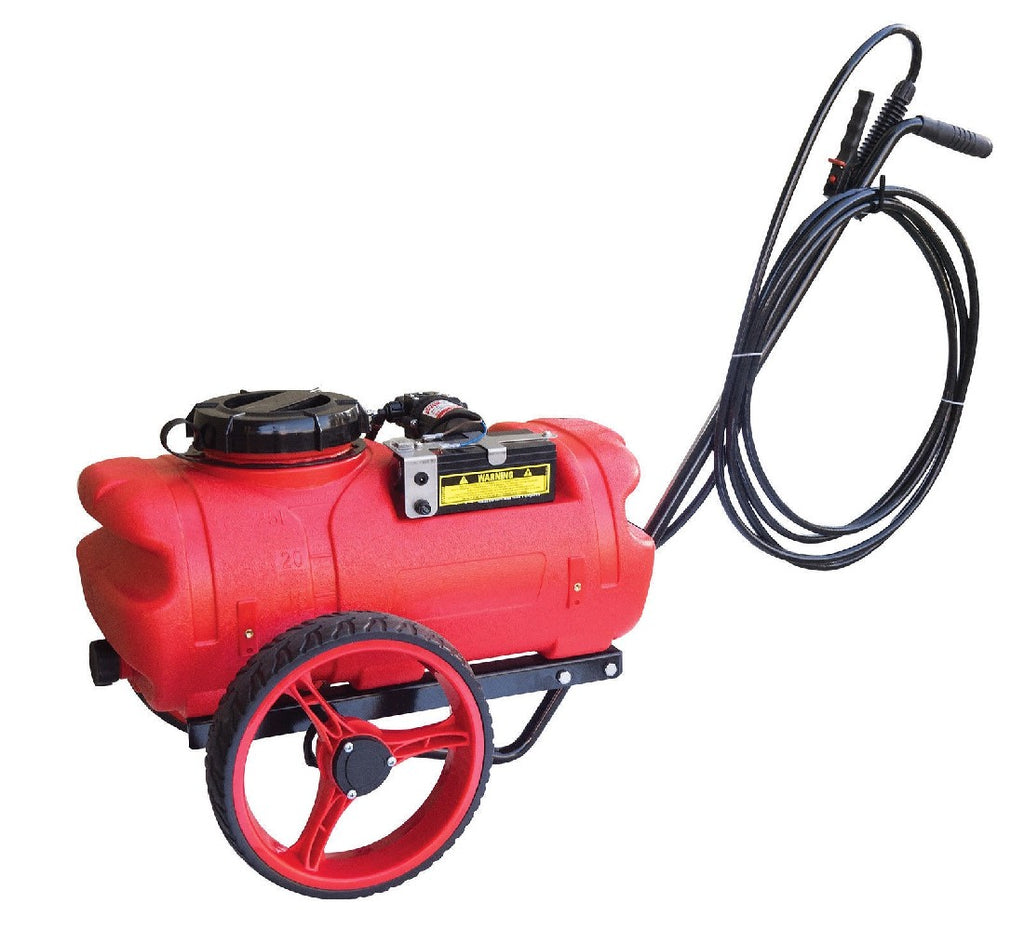 REDLINE TROLLEY 12 VOLT SPRAYER 25L RECHARGABLE