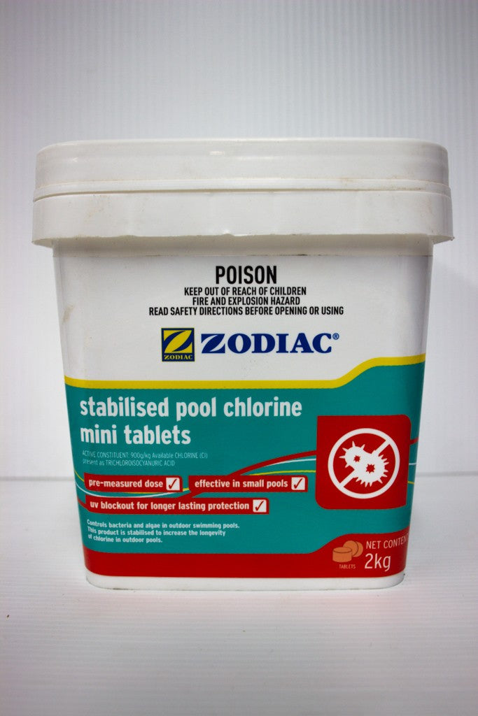 ZODIAC STABILISED POOL CHLORINE MINI TABLETS 2KG