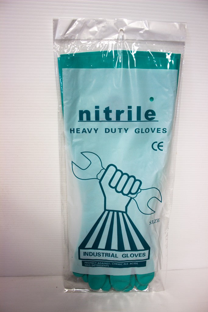 MAXISAFE NITRILE GREEN CHEMICAL GLOVE SIZE 9 LGE
