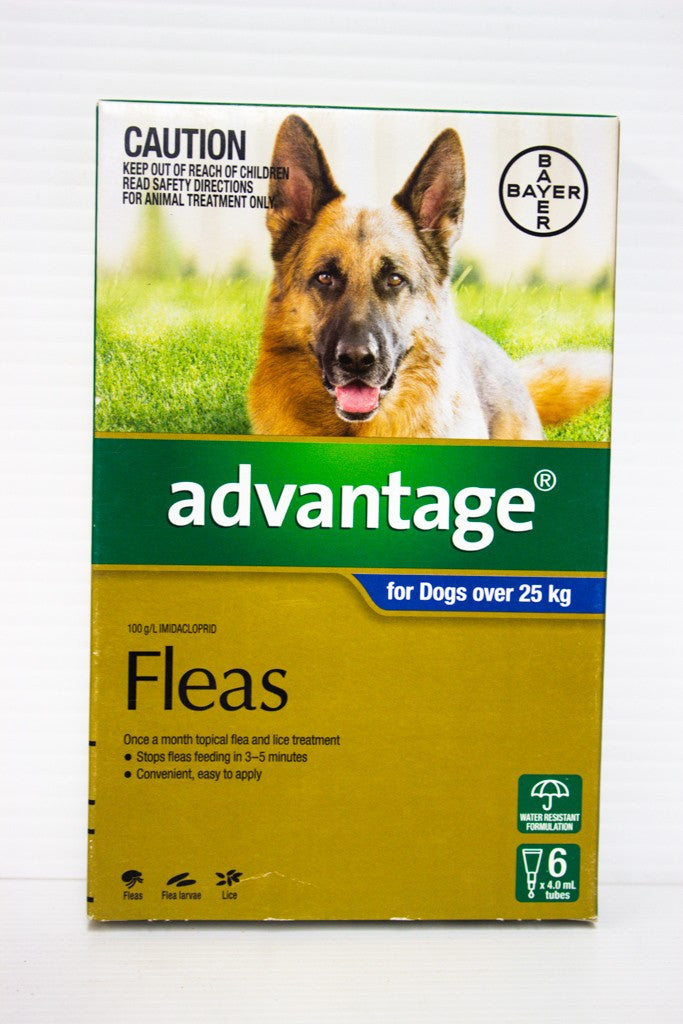 ADVANTAGE DOG 25KG PLUS X6 FLEAS