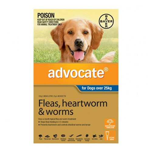 ADVOCATE DOG OVER 25KG 3TUBES