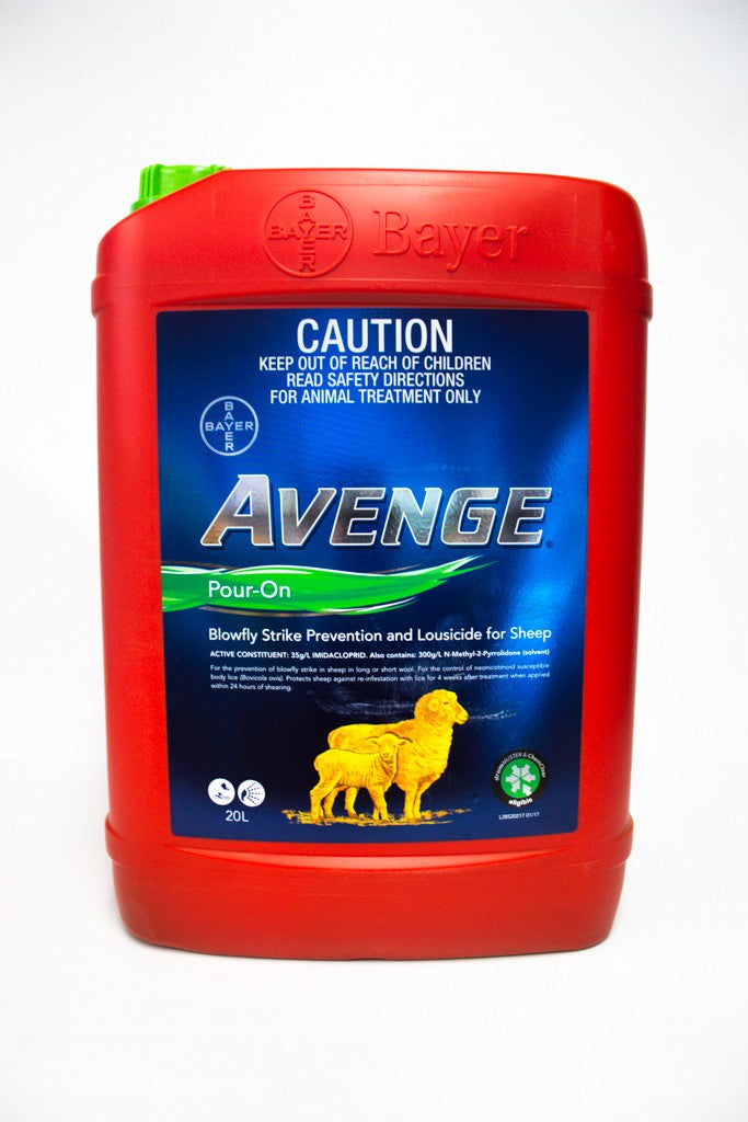 AVENGE POUR ON 20L BAYER FLY & LICE