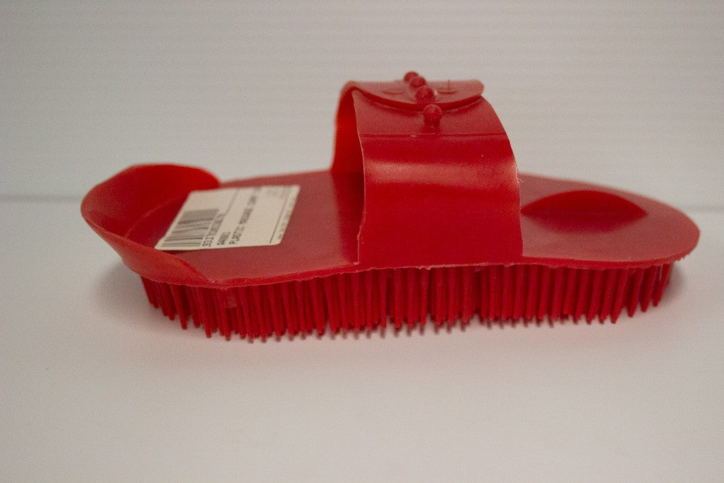 CURRY COMB MASSAGE RED PLASTIC
