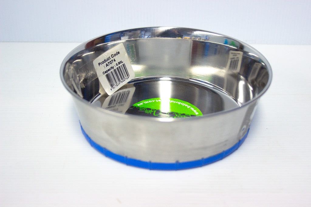 DOG BOWL STAINLESS STEEL 0.90L