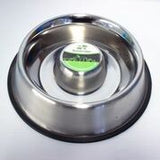 DOG BOWL STAINLESS STEEL SLOW FEEDER 700G