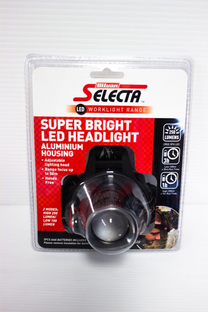 SILVAN SUPER BRIGHT HEADLIGHT LED 200 LUMENS LONG FOCUS