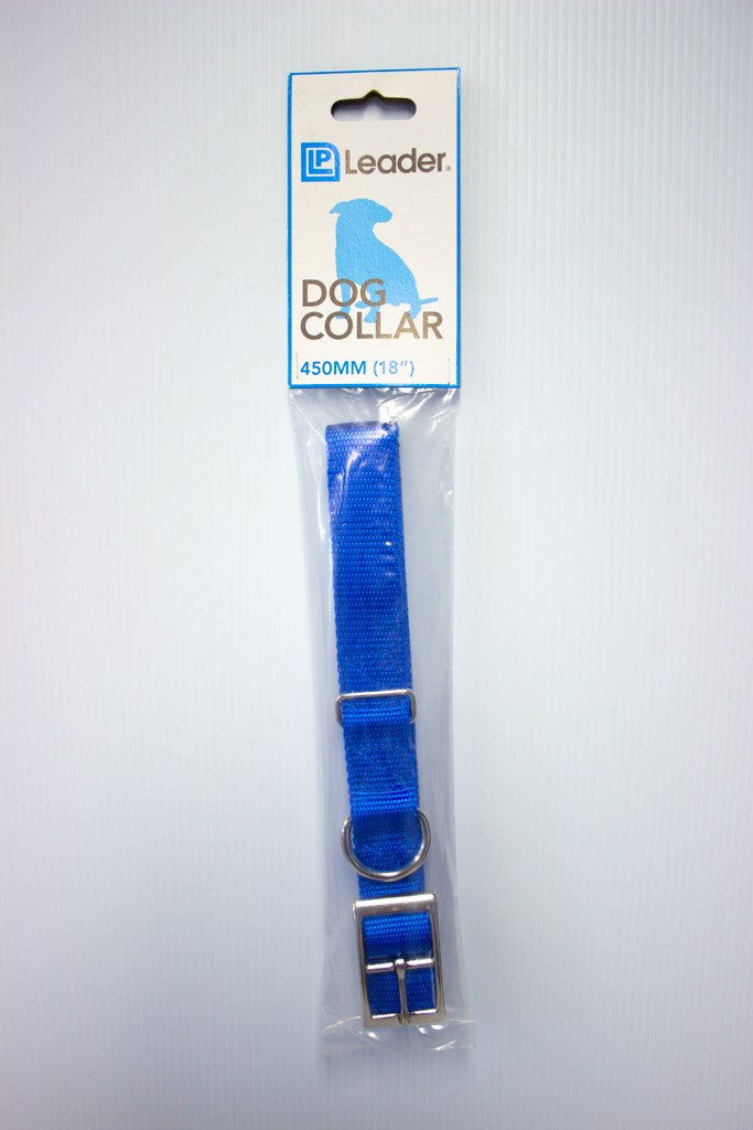 "DOG COLLAR WEBBING 45CM 18"" ASSORTED COLOURS"