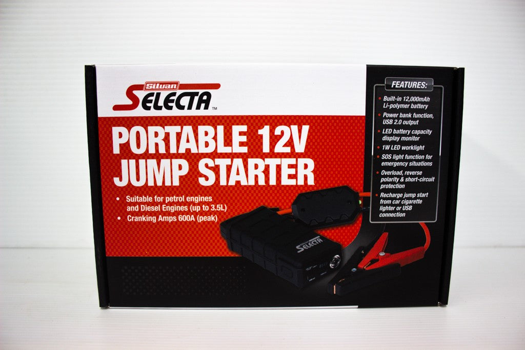 SELECTA PORTABLE POWERPACK AND JUMP STARTER KIT 600AMPS