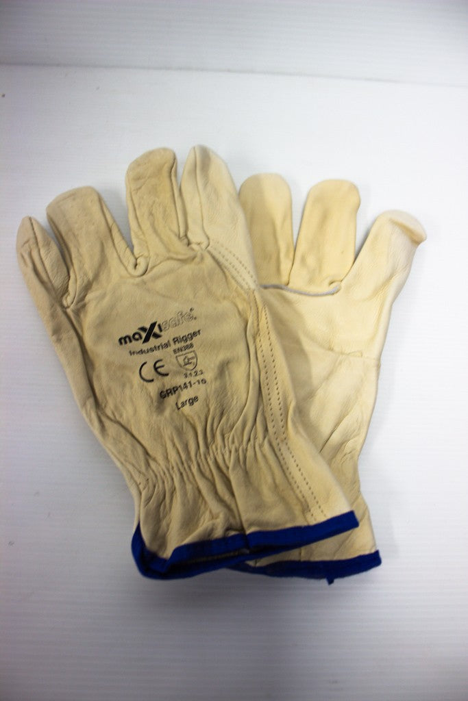MAXISAFE GLOVE INDUSTRIAL FULL GRAIN RIGGERS LARGE