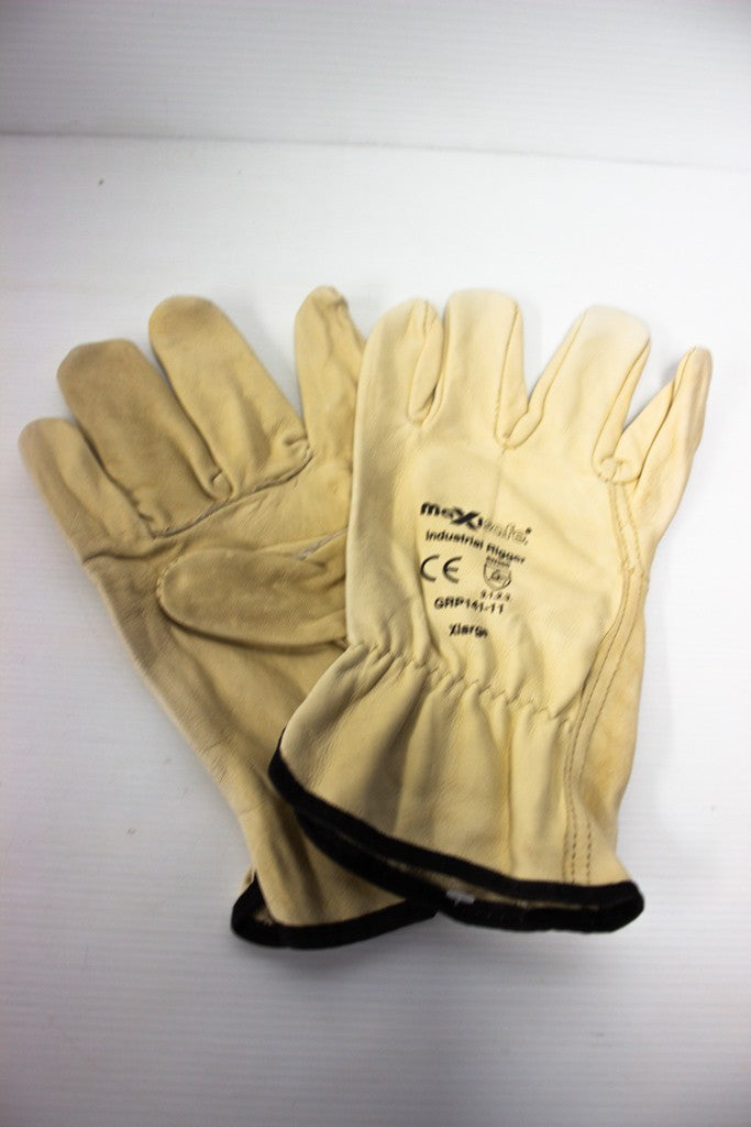 MAXISAFE INDUSTRIAL FULL GRAIN RIGGERS GLOVE X-LARGE