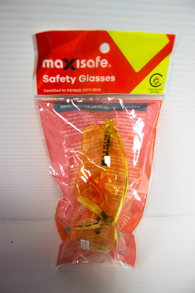 MAXISAFE SAFETY GLASSES AMBER KANSAS