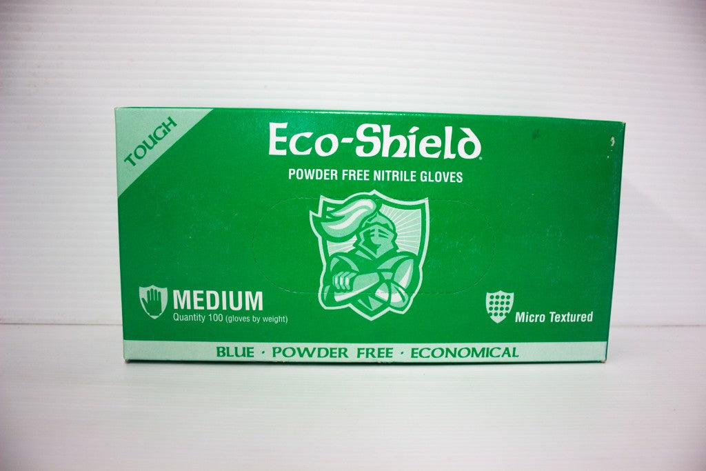 ECOSHIELD BLUE NITRILE GLOVE UNPOWDERED BOX 100 MEDIUM