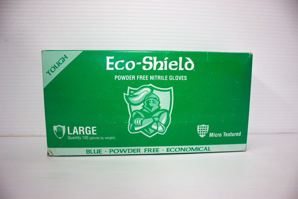 ECOSHIELD BLUE NITRILE GLOVE UNPOWDERED BOX 100 LARGE