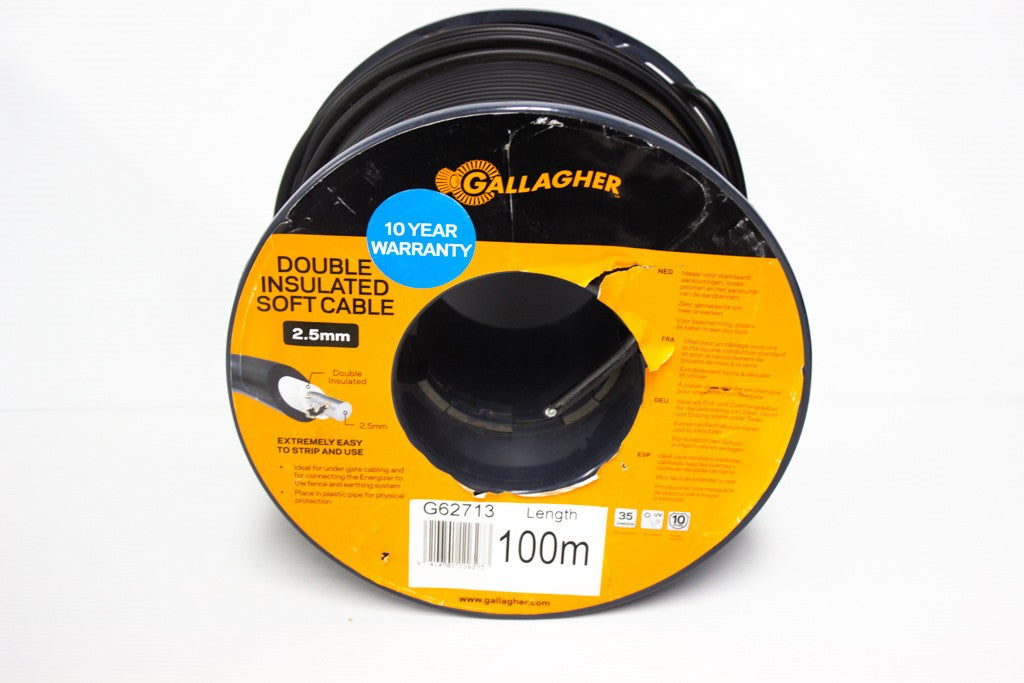 GALLAGHER DOUBLE INSULATED SOFT CABLE 2.5MMX100M