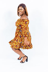 "Shop African Print ""JOIA"" Flare Dress from EllaFashionMall.com End the summer in style in this beautiful flare dress ✅ 100% HITARGET material  african print flare dresses"