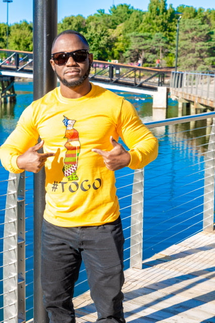 #TOGO Map Long Sleeves from EllaFashionMall.com ✅ Unique designs ✅ 100% Unisex cotton shirts ✅ Shop Togo Long-Sleeve Shirts now!  togo long sleeves for sale