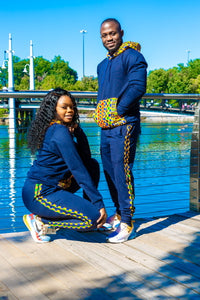 Spend your best fall and winters days in the MOTHERLAND TRACKSUIT. ✅ Made with 100% cotton and Kente prints.  motherland tracksuit