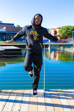 Load image into Gallery viewer, African map hoodies black Africa Map Hoodies