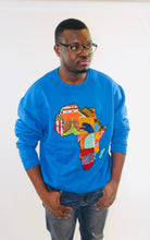 Load image into Gallery viewer, Buy African Map Sweatshirt from EllaFashionMall.com Stay warm and stylish in our Unisex African map sweatshirts. ✅ 100% Cotton and African prints  African Map Sweatshirt buy African Map Sweatshirt