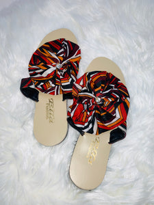 Mixed African Prints Flip-Flop