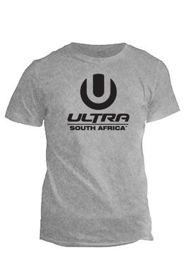 Grey Male T-Shirt with Black ULTRA Logo