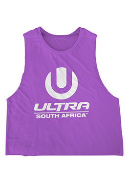 Purple Ladies Crop Top with White ULTRA SA Logo