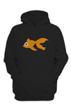 Black Goldfish Hoodie with Orange Blinky logo