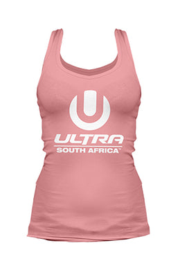 Pastel Pink Ladies Vest with White ULTRA SA Logo
